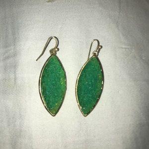 Beautiful Sea-Green Druzy earrings EUC